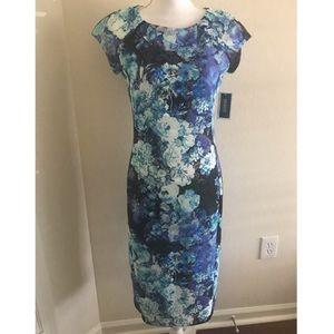 ECI floral dress S NWT